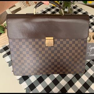 Auth Louis Vuitton Damier Ebene Altona briefcase